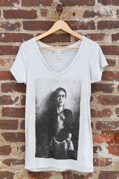 6aa75d96c57 Frida s Got A Gun Frida Kahlo T-shirt Grey by MagdalenaConcepts
