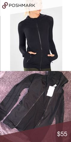 cecf5cc9eac Fabletics workout jacket! Seamless material with a good and super cute tiny  holes for style
