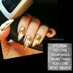 September '16 Chrome nails ❤❤❤❤ in love with my nails