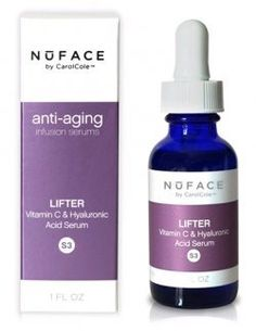 NuFace Lifter Vitamin C Serum-1 oz by NuFace. $49.50. This skin care staple will lift and tone aging and sagging skin, while reducing skin discoloration due to sun damage, aging and acne scarring. NuFace Lifter Vitamin C Serum helps achieve a maximum lift. Word on the streets, it's great for rosacea!. Lift Skin with Vitamin CNuFace Lifter Vitamin C Serum is a powerful formula with Vitamin C and hyaluronic acid. It helps you achieve a better lift with the natural antioxidan...
