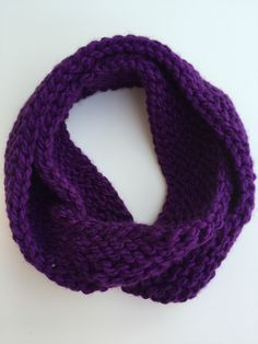 A personal favorite from my Etsy shop https://www.etsy.com/listing/476630942/child-size-knit-infinity-scarf-purple