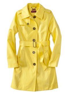 Target...Merona Trench..LOVE yellow...$50