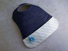 DIY Denim Fabric Pocket Bib