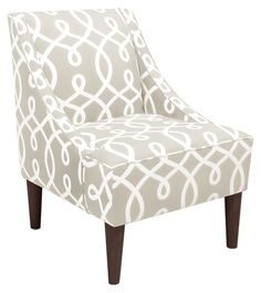 Upholstered accent chair with a pine wood frame and foam cushioning. Handmade in the USA. Formal Living Rooms, Living Room Decor, Upholstered Accent Chairs, Luxury Sofa, Better Homes, Club Chairs, Home Furniture, Dining Furniture, Home Accessories