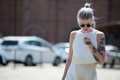 #MarianneTheodoresen looking well cool in Milan. #StyleDevil