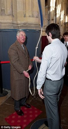 The Prince of Wales also tried a spot of bell-ringing during a trip toThe Holy Trinity Ch...