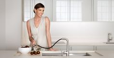 Pull-Down and Pullout Faucets: Water on the Move/ Call Bender Showrooms Today 1.800.573.4288