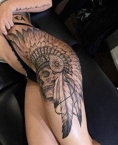 ideas tattoo for women arm native american american Tattoos for women ideas tattoo for women arm native american Trendy Tattoos, Sexy Tattoos, Girl Tattoos, Tattoos For Guys, Girls With Sleeve Tattoos, Indian Headdress Tattoo, Indian Skull Tattoos, Native American Tattoos, Native Tattoos
