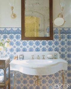 Beauty From Interior Desig: Moroccan Bathroom Inspiration Moroccan Bathroom, Moroccan Tiles, Morrocan Decor, Eclectic Bathroom, Glamorous Bathroom, Beautiful Bathrooms, Luxurious Bathrooms, Bad Inspiration, Bathroom Inspiration