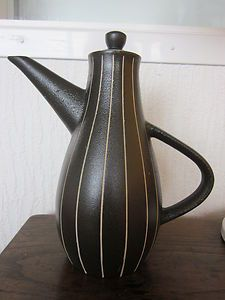 TIGO-WARE, Tibor Reich for Denby Pottery for. 'Kave' coffee jug.