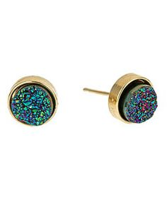 druzy stud earrings - $98