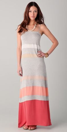 Love this with Jersey Dress with Silk Stripes!  Haute HippieMulti Striped Maxi Dres