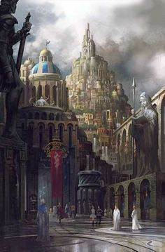 Post with 4436 votes and 144128 views. Tagged with fantasy, storytime, adventure; Fantasy Kunst, Fantasy City, Fantasy Castle, Fantasy Places, High Fantasy, Medieval Fantasy, Fantasy World, Medieval Town, Fantasy Art Landscapes