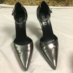 Selling this Authentic Gucci gunmetal patent leather stilettos in my Poshmark closet! My username is: b287807. #shopmycloset #poshmark #fashion #shopping #style #forsale #Gucci #Shoes
