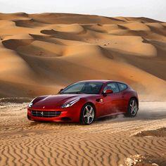 Ferrari FF Driving in the Sahara