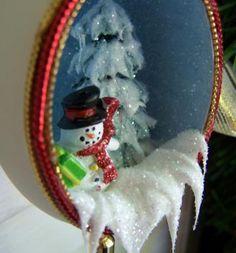 Ornament Snowman Christmas Real Duck Egg Shell Art EggSchells by EggShells for $14.00 #zibbet