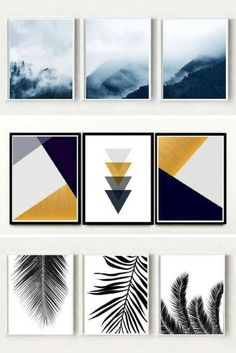 Triptych Wall Art {Printable Art for the Home Vol. Scandi und minimalistische druckbare Wandkunst von Honey Tree Prints The post Triptychon Wandkunst {druckbare Kunst für das Haus Vol. & Wall Art appeared first on Print . Diy Canvas Art, Diy Wall Art, Wall Art Decor, Wall Art Prints, Wall Art Bedroom, Bedroom Paintings, Free Art Prints, Wall Paintings, Minimal Art