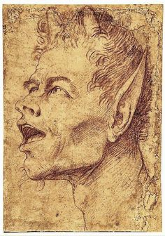 Jusepe de Ribera  Head of a Satyr Facing Left  Red chalk on brownish paper  Metropolitan Museum of Art