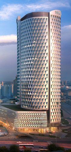 SOHO Hailun Plaza Tower, Shanghai, China by UN Studio Architects :: 33 floors, height 130m