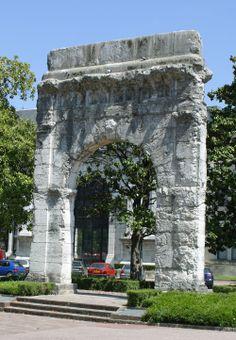 Roman door in #Aix-les-Bains, Rhône-Alpes, #France