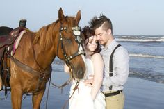 "Sunset ""Just Married"" wedding session with bride and groom on Texas beach, photographed by Jessi Marri Photography 