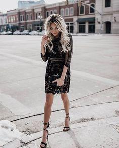 @happilyeverallen #streetstyle #fashionblogger #ootd #instafashion #blonde #fashion #heels #lacedress #style #streetfashion #ilovestreetstyle