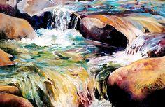 Waterfall Maui Painting  - Waterfall Maui Fine Art Print