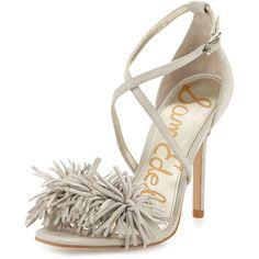 f22f048666ff Sam Edelman Aisha Suede Fringe High-Heel Sandal featuring polyvore