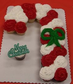 Christmas~Cupcake Candy Cane. Simple, simple, simple!