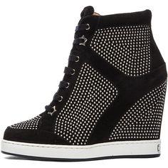 e4f919125fe3 Jimmy Choo Panama Suede Wedge Sneaker in Black