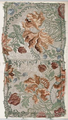 Fragment Date: 18th century Culture: Italian (Venice) Medium: Silk, metal thread Accession Number: 2002.494.323