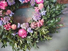Small Dried Flower Candle Ring Centerpiece or by NHWoodscreations, $24.00 Dried Flower Arrangements, Dried Flowers, Wedding Flower Decorations, Wedding Flowers, Candle Rings, Centerpieces, Floral Wreath, Wreaths, Candles