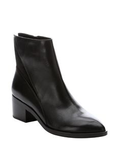Sigerson Morrison black leather 'Scarlett' ankle boots | BLUEFLY