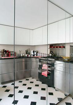 1000 images about espejo en la cocina on pinterest for Cocinas con espejos