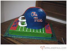 Ole Miss Football cake