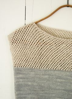 This #knit tank would look great alone or paired with a bathing suit.  Be ready for beach season with this beauty!