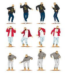 Hotline Bling Dance Music Poster, Dance Tutorial Illustration, Funny Poster, Fun…