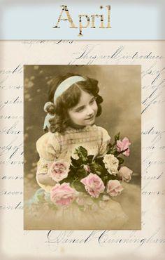 "Victorian ""Calender Girls"" ~ April"