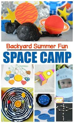 Space Camp Activities for a Space Summer Camp At Home! - Summer Activities for Kids - Summer fun needs space camp! This at home summer camp has a fun DIY space camp theme that kids will - Summer Camp Themes, Summer Camp Activities, Summer Camps For Kids, Summer Themes For Preschool, Summer Daycare, Kid Summer, Fun Camp, Summer Diy, Space Activities For Kids
