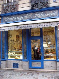 Murciano Boulangerie Patisserie, Jewish Shop (Blue), Rue des Rosiers, Le Marais, Paris