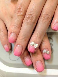 Nail Art: Pink gradation