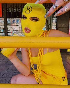 aesthetic yellow gangsta gangster bad collage baddie mask pink badass gang fille bhaddie sunny ski wallpapers thug grunge friends 8k