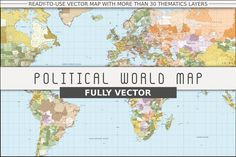 Political World Vector Map