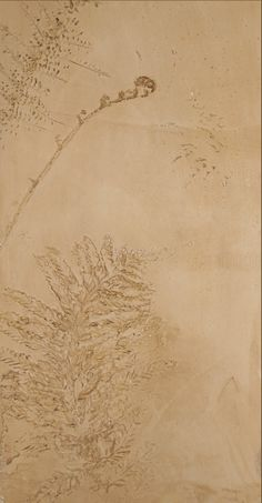 Venetian Plaster/Glazing: Fern Imprint DETAIL. Private residential masterbath. Temecula, CA
