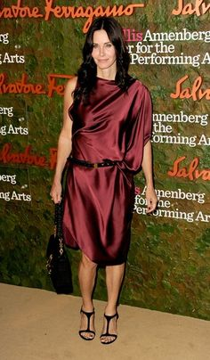 Courtney Cox | Marsala Is Pantone's Color Of The Year, But These 17 Celebrities Already Knew That | Bustle - Pantone Color of the Year 2015 Marsala