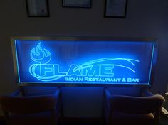 Laser Engraved and LED Lit Restaurant/Bar Signage Laser Engraving, Restaurant Bar, Signage, Neon Signs, Led, Lighting, Light Fixtures, Billboard, Lights