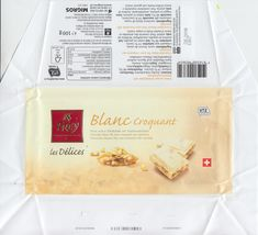 Blanc Croquant  Weisse Schokolade mit Haselnusskrokant 2018 Personalized Items, Chocolates, White Chocolate