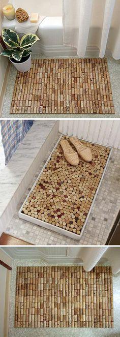 Alfombras de baño con tapones de corcho