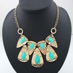 Tin Moon Retro Necklace - F21 F21, Turquoise Necklace, Retro, Jewelry, Moon, Fashion, The Moon, Moda, Jewlery