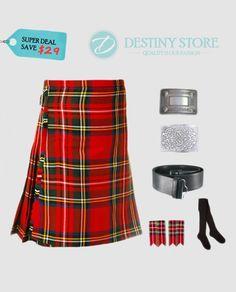 e2197eb49fe Royal Stewart Tartan Kilt Deal D-Store is offering Royal Stewart Kilt Deal  contains with